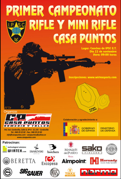 TROFEO RIFLE Y MINI RIFLE CASA PUNTO